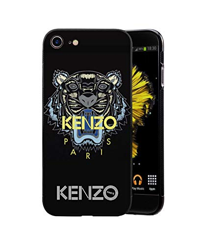 vanessadag Kenzo iPhone 6 6S Plus Coque, Hard Plastic Phone Housse Coque for iPhone 6 6S Plus Kenzo Paris, Noir