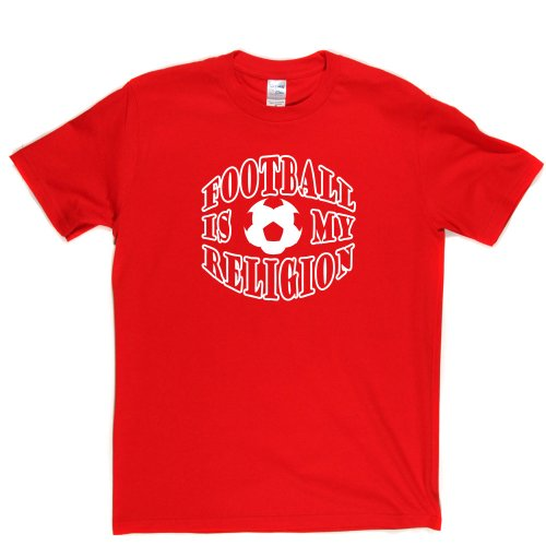 Football Is My Religion Footy Lads Football Soccer Tee T-shirt Rot