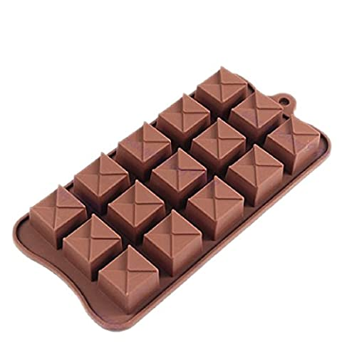 joyliveCY Chocolate Square Shape Series Silicone Ice Mold Cooking Tools Cookie Cutter Ice Cream Mould
