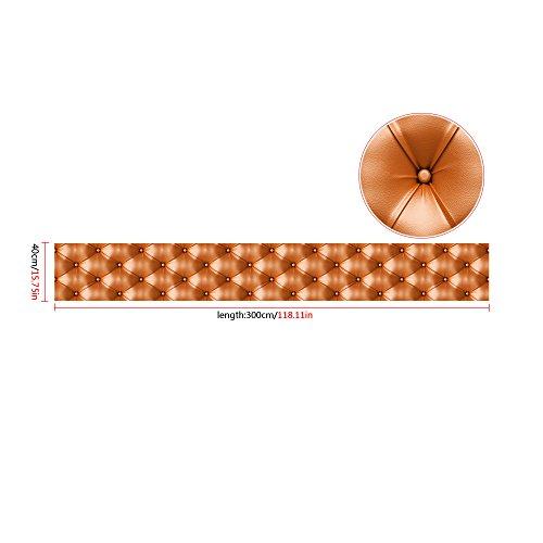 ODJOY-FAN 3D Simulation Fernseher Wand Tapete Jahrgang Leder strukturiert Tapete PVC Wandgemälde Realistisch Aussehen Wasserdicht 300cm x 40 cm(D,1 PC)