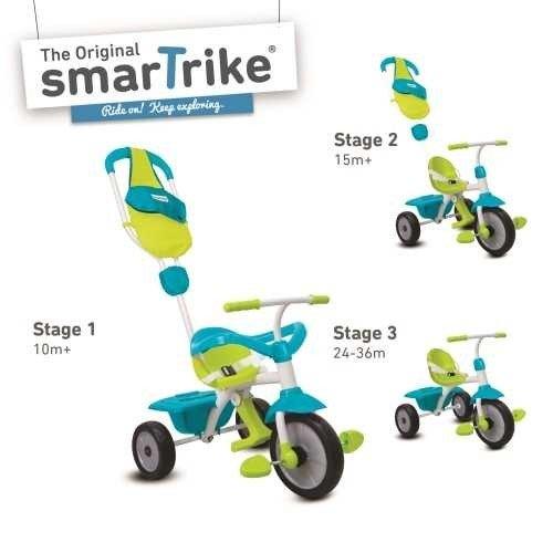smarTrike 147-0100 - Play, Dreiräder und Pedalfahrzeug, GL, grün/blau/rot