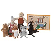 The Puppet Company - Traditional Story Sets - The Gingerbread Man Finger Puppet Set