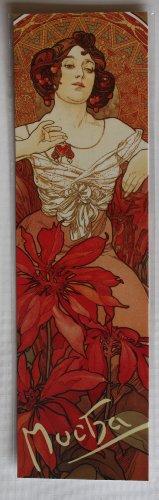 Art Nouveau Stil, Ruby Lesezeichen Aus 1900 von Alphonse Mucha Kunstdruck, Im Art Nouveau