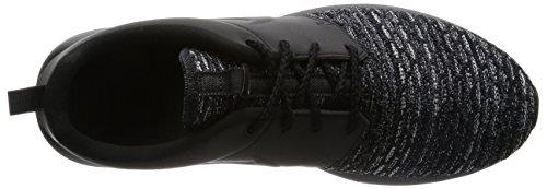 Nike Mens Rosn Flyknit Prm Scarpe Da Corsa Blu, 44,5 Eu Nero / Grigio / Bianco (nero / Nero-grigio-bianco Scuro)