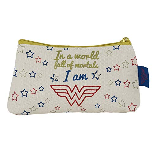 Wonder Woman Cosmetic Bag Stars Half Moon Borse