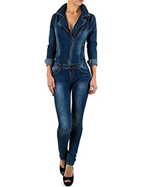 Used Look Skinny Jeans Overall Für Damen bei Ital-Design