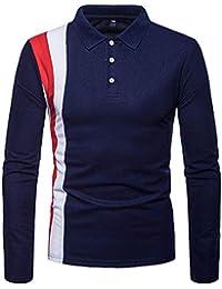T-Shirts à Manches Longues Chemise Homme Manches Longues Blouse Col V  Casual Imprimé Africain Décontracté Tee Shirt Homme Chemises… b27434b2795