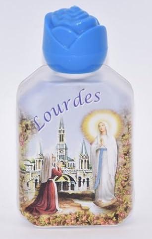 1Bouteille d'eau Lourdes rempli avec de l'eau Lourdes & Blessed.