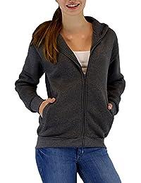 S&LU Tolle Damen Uni Sweatjacke/Hoodie mit Kapuze in verschiedenen Farben Gr. S-XXL(2XL)