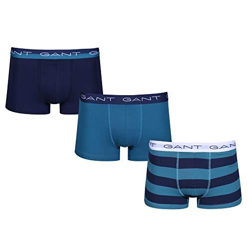 GANT 3-Pack Trunk Rugby Stripe Boxer Shorts Large Saxony Blue