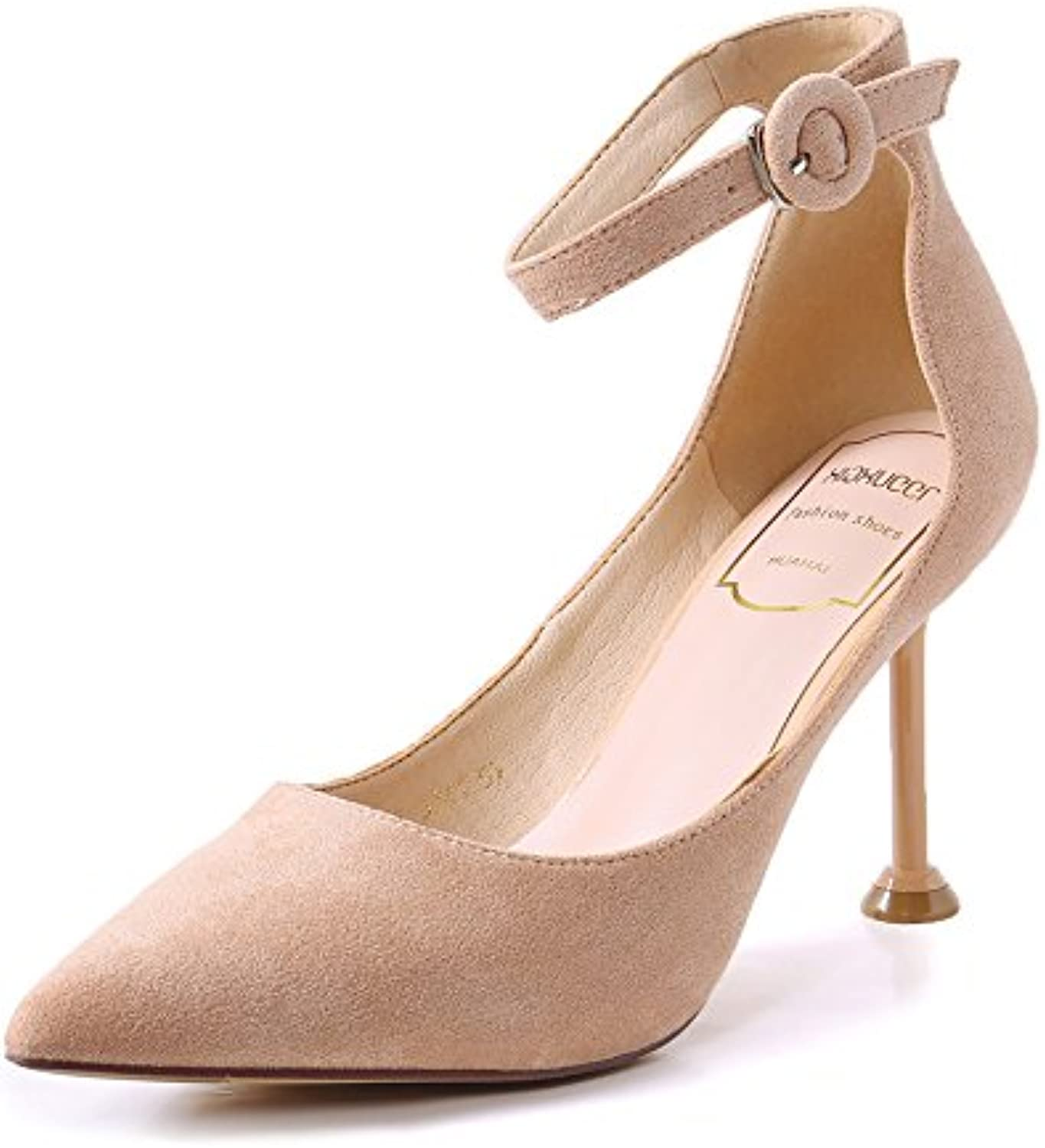 LGK&FA High Heel Slender Heel Shoes Thirty-Four Pink Apricot Color
