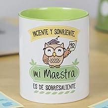 La Mente es Maravillosa - Taza frase y dibujo divertido - Regalo original para Maestra o