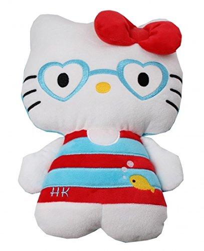 Hug Puppe Plüsch Rot/Blau 40cm (Plüsch Hello Kitty Spielzeug Puppe)