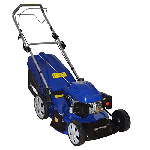 Hyundai 20 508mm 173cc Self Propelled 4 Stroke Petrol Lawn Mower With 70L Grass Bag HYM51SP 4 in 1 Mulching Cutting Collecting Side Discharge