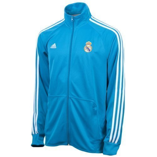 2012-13 Real Madrid Adidas Core Track Top (Blue) Hooded Track Top