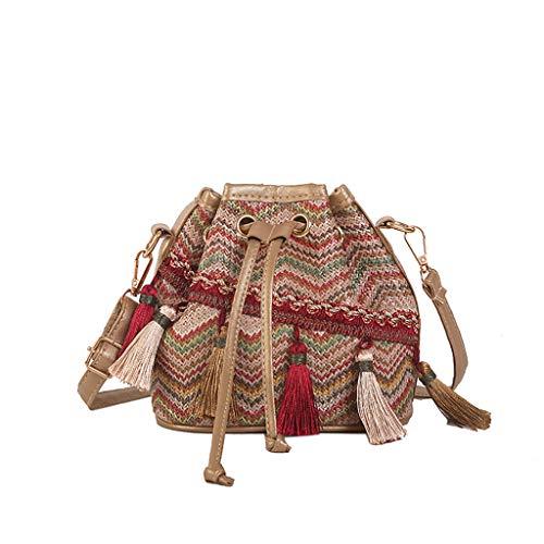 SSUPLYMY Handtaschen Messenger Bag mit Fransen Umhängetasche Damen Paket Schulter Mode Mini Tasche Frauen Joker Crossbody-Modus One Shoulder Drawstring Dumplings Crossbody -