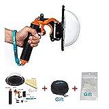TELESIN T03 Dome Port und Zubehör für GoPro Hero4 / 3 + / 3 Unterwasserfotografie (Dome Port + Trigger-+ Bag Kit)