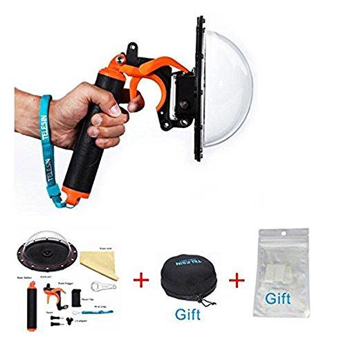 Color: T03 Puerto de domo + Disparador de pistola + Proteger la bolsa de la lente --- Naranja   Características:  El puerto de domo funciona con la carcasa Hero3 + o Hero4 y no requiere ninguna modificación especial o accesorios por separado. > Go...