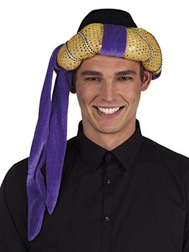 Kostüm Das Sultan - Boland 81002 Hut Turban Sultan Orient, Gold / Violett , 57-61cm