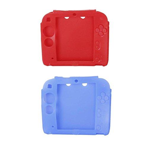 Générique 2pcs Etuis Housses Coques de Protection en Silicone pour 2DS – Rouge et Bleu