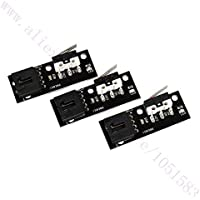 BUPADEALER 3pcs/lot 3D Printer Accessories Endstop Mecánico Interruptor de Límite 1A/125VAC para ramps1.4, Makerbot, Prusa, Ultimaker 3D Impresora