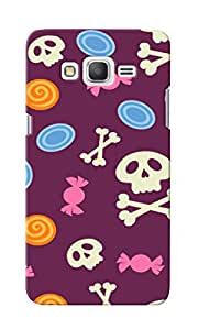 CimaCase Skull And Candies Designer 3D Printed Case Cover For Samsung Galaxy Grand Prime