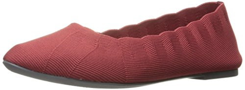 Skechers Women's Cleo Bewitch Ballet Flat, Red, 9.5 M US (Flat Red Ballet)