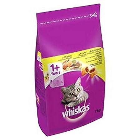 Whiskas Katzenfutter Trockenfutter Adult 1+ mit Huhn