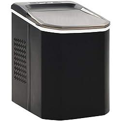 vidaXL Appareil à Glaçons Noir 1,4L 15 kg/24 h Machine à Glaçons Cube de Glace