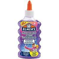 ELMER'S Colla Glitterata, Lavabile e Adatta ai Bambini, Ottima per Realizzare Slime, 177 ml, Viola
