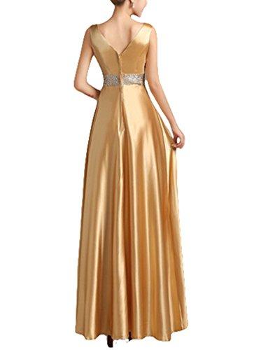 PLAER femmes épaule perles robe robe de mariée de mariée Cocktail robe de soirée sexy or champagne