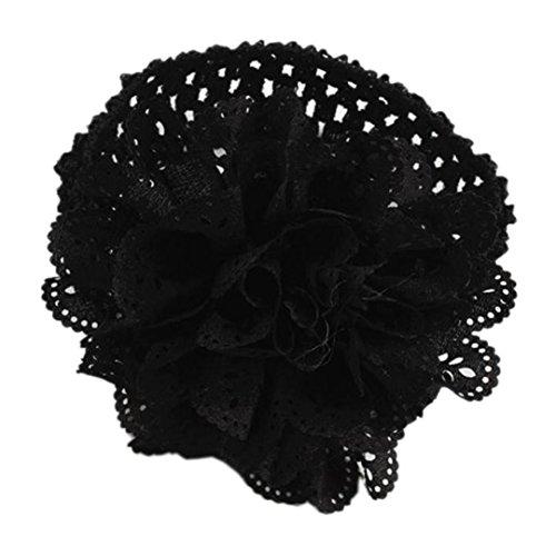 Huhu833 Baby Kinder Mädchen Spitze Blume Haarband Stirnband Dress up Kopfband (Schwarz)