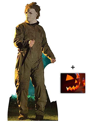 Michael Myers Halloween Stalking Pose Lebensgrosse Pappaufsteller mit 25cm x 20cm - Hollywood-promi-halloween-party