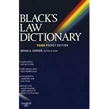 Black's Law Dictionary (Pocket), 3rd Edition (2006-06-22)