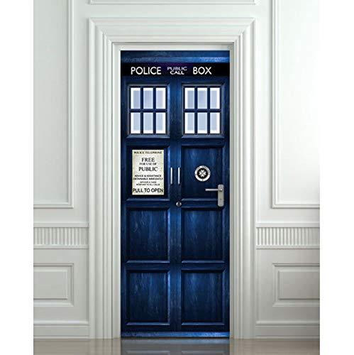 Diy 3d wandaufkleber wandbild schlafzimmer wohnkultur wand poster london polizei box by wrap abnehmbar durch aufkleber decole 90x204CM - 204 Poster