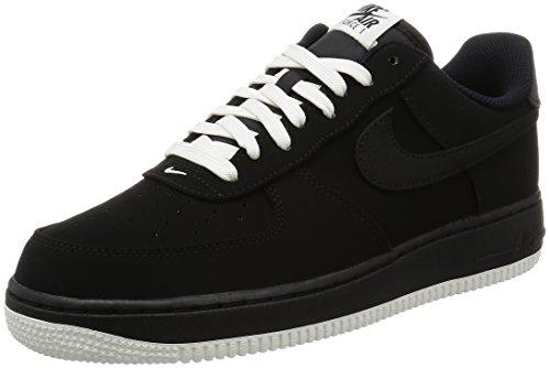 Nike Air Force 1 Scarpe da Basket, Uomo, Multicolore (Black/Black/Sail), 46