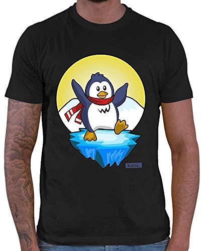 Rico Pinguin Kostüm - HARIZ Herren T-Shirt Pinguin Schal Fröhlich