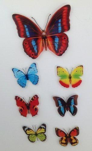 7 Stück Deko Schmetterlinge mit Magnet Magnetschmetterling Kühlschrankmagnet (Schmetterling-kühlschrank-magnete)