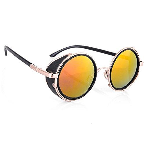 morefaz Herren Sonnenbrille Silber Aviator Silver Polarized Regulär Gr. Regulär, Rainbow Mirror Lens