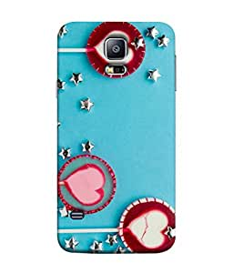 PrintVisa Designer Back Case Cover for Samsung Galaxy S5 Mini :: Samsung Galaxy S5 Mini Duos :: Samsung Galaxy S5 Mini Duos G80 0H/Ds :: Samsung Galaxy S5 Mini G800F G800A G800Hq G800H G800M G800R4 G800Y (Fancy trendy Design pattern lovely blue silver)
