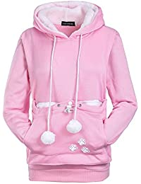 HF morning Warme Comfort Fit Hoodie Casual Kawaii Damen Outerwear Einfarbig  Lose Jumper Langarm Mode Stickerei f968dbeedf