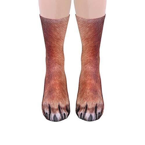 Yodensity Erwachsene/Kinder 3D Drucken Tierpfote Socken aus Baumwolle Halloween Weihnachten ()