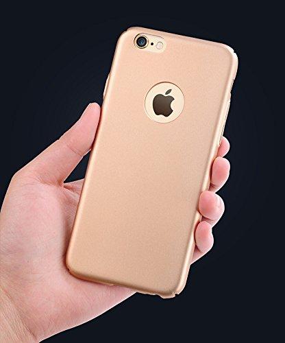 LaoZan Slim Federleicht iPhone Hülle Cover Schutz Tasche Schale Hard Case Gold(Seidig)