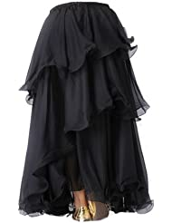 A-Express® Three Layered Tribal Gypsy Tango Samba Long Belly Dance Skirt
