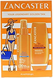 Lancaster Your Suncare Routine For A Legendary Goldan Tan Set: Oil-Free Milky Spray SPF 30 150ml + Tan Maximiz