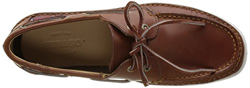 Sebago Ryde Two Eye Herren Bootsschuhe Braun (brown Oiled Waxy Lea)