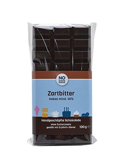 NO SUGAR SUGAR | Zartbitter Schokolade (100 g) vom Konditor, zuckerfrei & Low-Carb
