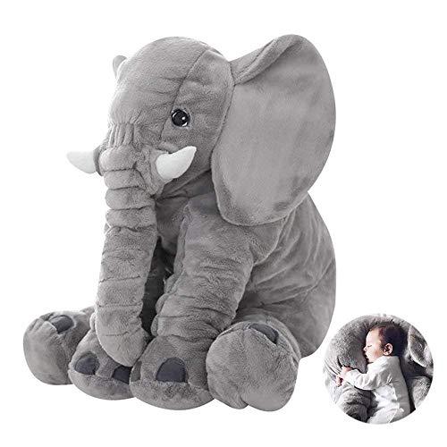 Bongles Elephant Kissen (Baby-Spielzeug) 40CM Elefant Füllte Plüsch-Kissen Schlafen Kissen-Kissen Für Kinder Comfort Toy (Gray) - Dekorationen Elefant Baby Grauer