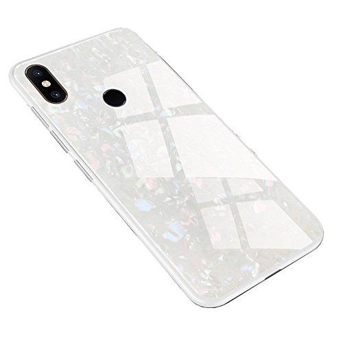LAGUI Hülle Geeignet für Xiaomi Mi Mix 2s, Ultradünne Elegantes Design Stil Handyhülle, 9H Panzerglas Rückseite & Seitlich TPU Rahmen Schutzhülle, Anti-Scratch, stoßfeste Schale. Weiß