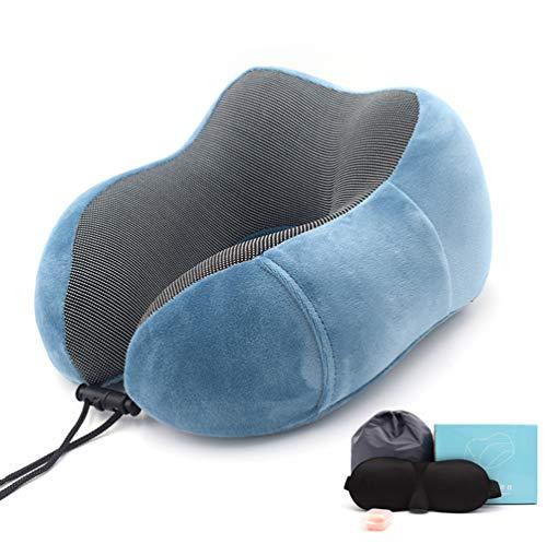 AZUOYI Nackenkissen Reisekissen mit Schlafen Memory Foam U Geformte Hals Kissen für Reisen im Auto Flugzeug Zug Büro und Haus,005,30 * 28 * 14cm -